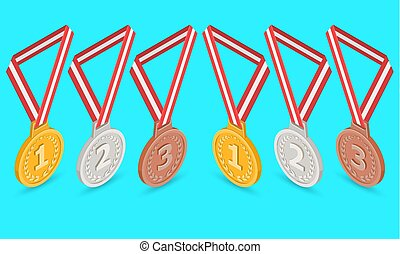 報われる, セット, メダル