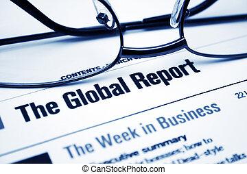 報告, 全球的商務