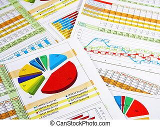 報告, 年度, 圖表, 圖表