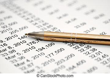 報告, 金融