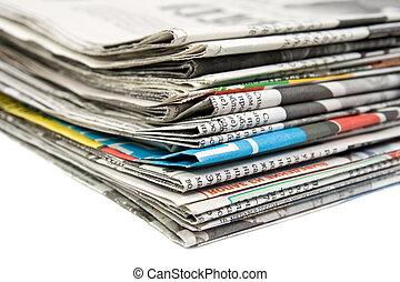 報紙, 堆