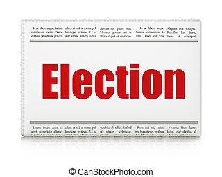 報紙, 標題, 政治, 選舉,  concept: