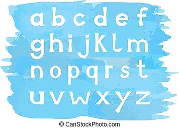 場合, アルファベット, より低い, セット, 手紙