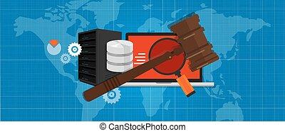 場合, 情報, 法廷, 正義, 技術, シンボル, デジタル, 法的, 犯罪, 木製である, 評決, インターネット, 小槌, 法律, ハンマー, オークション