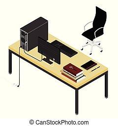 場所, オフィス, 仕事, 個人的, オフィス。, チーム, 協力者, 本, ペン, ノートブックコンピュータ, ...