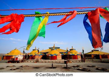 場所, 内部, mongolia, 崇拝