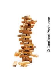 塊, 建築物, 風險, 不穩定, 概念