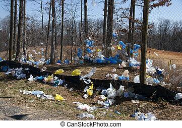 塑料袋, landfill