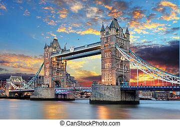 塔桥梁, 在中, 伦敦, 英国