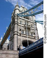 塔桥梁, 在以前, 天, -, 伦敦