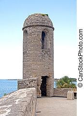 塔, 以及, 牆壁, ......的, an, 老, 堡壘
