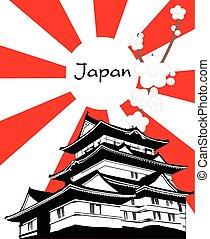 塔, 日本, シンボル, sakura