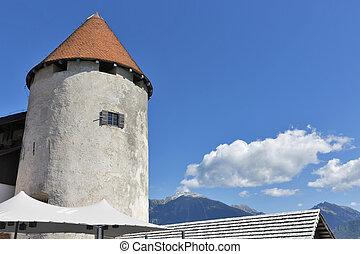 塔, ......的, 流血, 城堡, 斯洛文尼亞