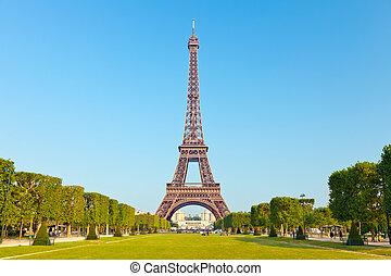 塔, eiffel, 巴黎, 法國