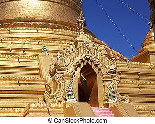 塔, kuthodaw, マンダレイ, ミャンマー