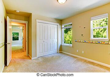 塗られる 壁, 子供 部屋, 空
