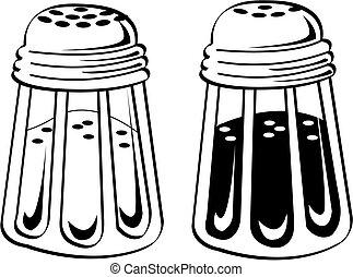 塩のコショウ, 芸術, 振りかけ式容器, クリップ