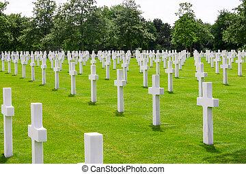 墓地, アメリカ人, ノルマンディー, フランス
