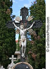 墓地, 十字架像