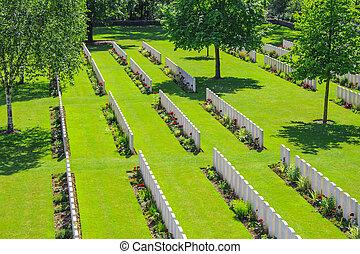 墓地, 戦争, イギリス, 1, フィールド, 世界, フランダース, 新しい
