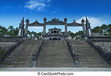墓, の, khai, dinh, 色合い, vietnam., ユネスコ, 世界, 相続財産, サイト。