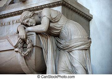 墓, フィレンツェ, dante, -, croce., santa, alighieri