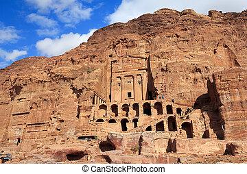 墓, ヨルダン, petra, 壷