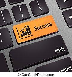 増加, ビジネス, キーボード