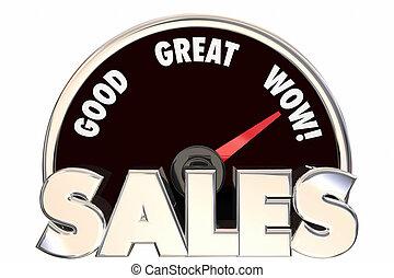 増加, 偉人, 改善された, 収入, お金, 販売, 取引, 言葉, 速度計, 3d