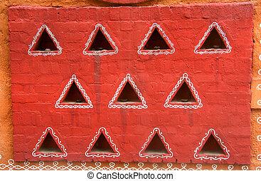 墙壁, 在中, 一, 具有历史意义, 家