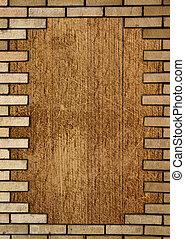 墙壁, 砖, 框架