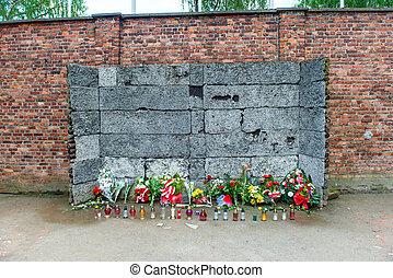 墙壁, 纪念碑, 死亡, auschwitz