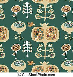 墙纸, 装饰的模式, 植物群
