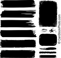 墨水, 旗幟, &, 框架