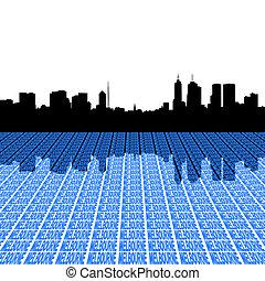 墨爾本, 地平線, 由于, 遠景, 正文, 前景, 插圖