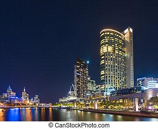 墨爾本, 都市風景, 夜晚