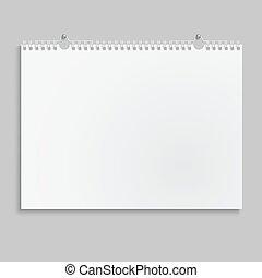 壁掛けカレンダー, spring., ブランク