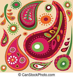 壁紙パターン, ペイズリー織