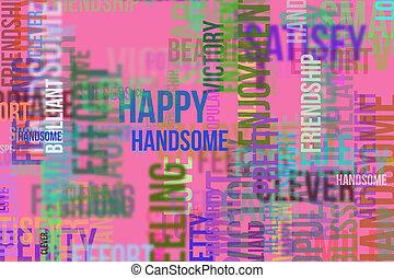 壁紙, ∥あるいは∥, 単語, &, 手ざわり, 形, バックグラウンド。, 幸せ, デザイン, パターン, 喜び, 雲, rich., 痛みなさい, 幸せ