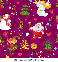 壁紙, クリスマス, seamless