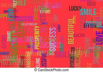 壁紙, 幸せ, 雲, 単語, &, healthy., 手ざわり, 形, バックグラウンド。, デザイン, パターン, 喜び, 生活, ∥あるいは∥, 心配