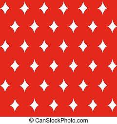 壁紙, 生地, パターン, 数字, バックグラウンド。, ダイヤモンド, 伝統的である, 星, seamless, ベクトル, イラスト, 作られた, 赤, 包むこと, -, ペーパー, 使われた, 白, drawing., クリスマス, 印刷, 手, スタイル, 装飾