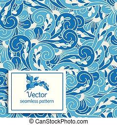 壁紙, 織物, 偉人, ∥あるいは∥, 生地, pattern., 抽象的, ornament., vintage., seamless, leaves., 包装, 切望された, idea., 定型, (どれ・何・誰)も