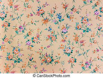 壁紙, backgroun, 古い, 背景, レトロ, 花