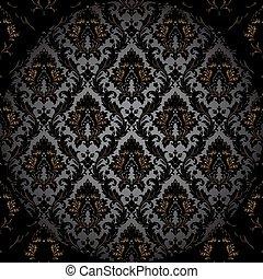 壁紙, seamless, ダマスク織