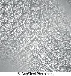 壁紙, seamless, 銀, ダマスク織