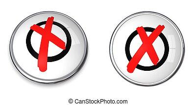 壁虱, 馬克, 按鈕, -, 紅十字會