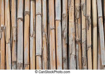 壁, の上, 手ざわり, 背景, 終わり, 竹