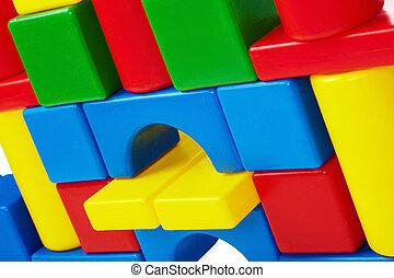 壁, の, おもちゃ, 城, クローズアップ