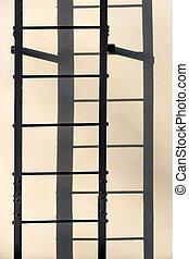 壁, はしご, 配役影